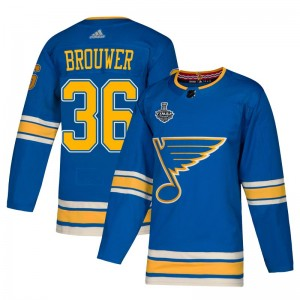 Troy Brouwer St. Louis Blues Youth Adidas Authentic Blue Alternate 2019 Stanley Cup Final Bound Jersey
