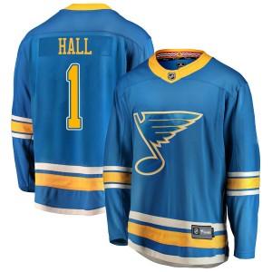 Glenn Hall St. Louis Blues Men's Fanatics Branded Blue Breakaway Alternate Jersey