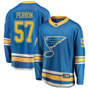 David Perron St. Louis Blues Men's Fanatics Branded Blue Breakaway Alternate Jersey