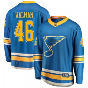 Jake Walman St. Louis Blues Men's Fanatics Branded Blue ized Breakaway Alternate Jersey
