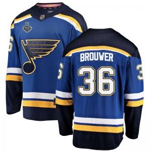 Troy Brouwer St. Louis Blues Men's Fanatics Branded Blue Breakaway Home 2019 Stanley Cup Final Bound Jersey