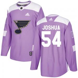 Dakota Joshua St. Louis Blues Youth Adidas Authentic Purple Hockey Fights Cancer Jersey