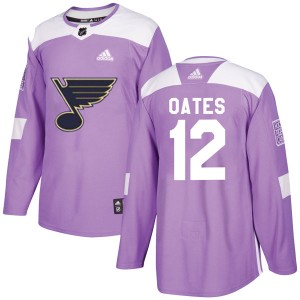 Adam Oates St. Louis Blues Youth Adidas Authentic Purple Hockey Fights Cancer Jersey