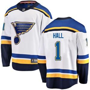 Glenn Hall St. Louis Blues Men's Fanatics Branded White Breakaway Away Jersey