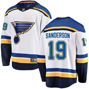 Derek Sanderson St. Louis Blues Men's Fanatics Branded White Breakaway Away Jersey