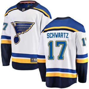 Jaden Schwartz St. Louis Blues Men's Fanatics Branded White Breakaway Away Jersey