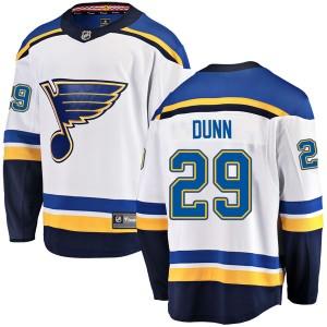 Vince Dunn St. Louis Blues Youth Fanatics Branded White Breakaway Away Jersey