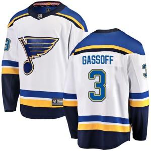 Bob Gassoff St. Louis Blues Youth Fanatics Branded White Breakaway Away Jersey