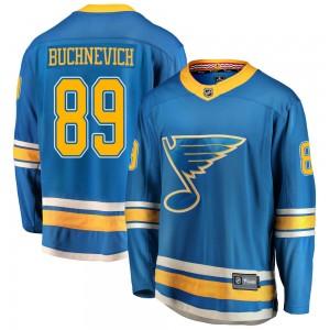 Pavel Buchnevich St. Louis Blues Youth Fanatics Branded Blue Breakaway Alternate Jersey