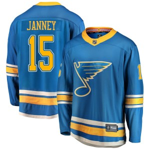 Craig Janney St. Louis Blues Youth Fanatics Branded Blue Breakaway Alternate Jersey