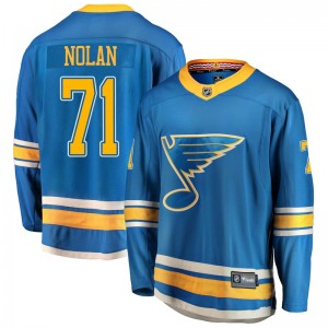 Jordan Nolan St. Louis Blues Youth Fanatics Branded Blue Breakaway Alternate Jersey