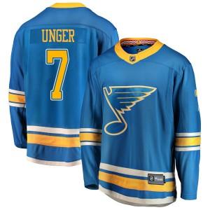 Garry Unger St. Louis Blues Youth Fanatics Branded Blue Breakaway Alternate Jersey