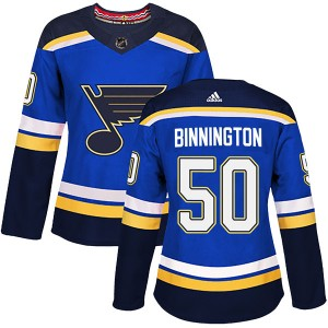 Jordan Binnington St. Louis Blues Women's Adidas Authentic Blue Home Jersey