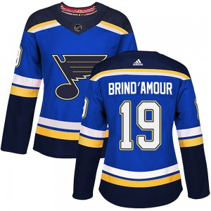 Rod Brind'amour St. Louis Blues Women's Adidas Authentic Blue Home Jersey