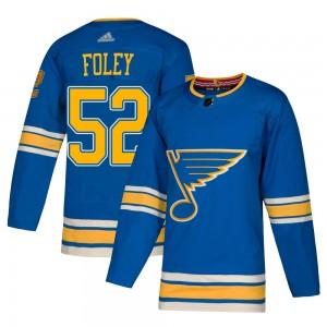 Erik Foley St. Louis Blues Men's Adidas Authentic Blue Alternate Jersey