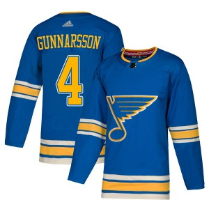 Carl Gunnarsson St. Louis Blues Men's Adidas Authentic Blue Alternate Jersey