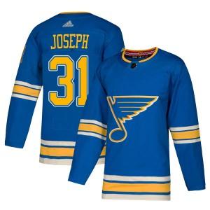 Curtis Joseph St. Louis Blues Men's Adidas Authentic Blue Alternate Jersey