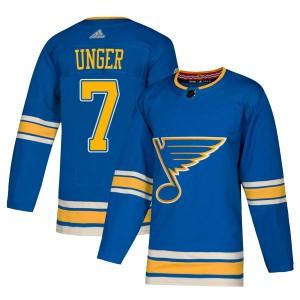Garry Unger St. Louis Blues Men's Adidas Authentic Blue Alternate Jersey