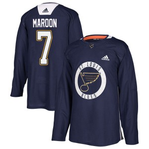 Patrick Maroon St. Louis Blues Youth Adidas Authentic Blue Practice Jersey