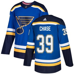 Kelly Chase St. Louis Blues Men's Adidas Authentic Blue Home Jersey