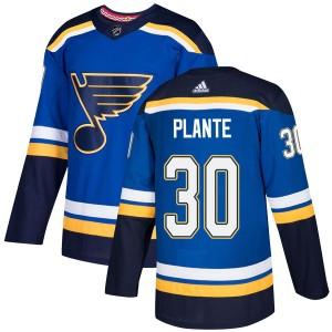 Jacques Plante St. Louis Blues Men's Adidas Authentic Blue Home Jersey