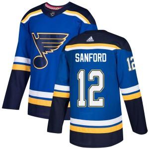 Zach Sanford St. Louis Blues Men's Adidas Authentic Blue Home Jersey
