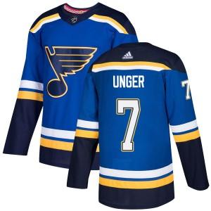 Garry Unger St. Louis Blues Men's Adidas Authentic Blue Home Jersey