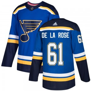 Jacob De La Rose St. Louis Blues Youth Adidas Authentic Blue Home Jersey