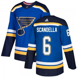 Marco Scandella St. Louis Blues Youth Adidas Authentic Blue ized Home Jersey