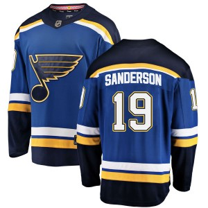 Derek Sanderson St. Louis Blues Men's Fanatics Branded Blue Breakaway Home Jersey
