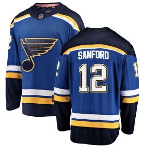 Zach Sanford St. Louis Blues Men's Fanatics Branded Blue Breakaway Home Jersey