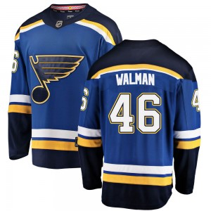 Jake Walman St. Louis Blues Men's Fanatics Branded Blue ized Breakaway Home Jersey