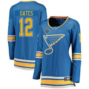 Adam Oates St. Louis Blues Women's Fanatics Branded Blue Breakaway Alternate 2019 Stanley Cup Final Bound Jersey