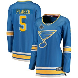 Bob Plager St. Louis Blues Women's Fanatics Branded Blue Breakaway Alternate 2019 Stanley Cup Final Bound Jersey