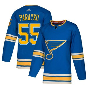 Colton Parayko St. Louis Blues Youth Adidas Authentic Blue Alternate Jersey
