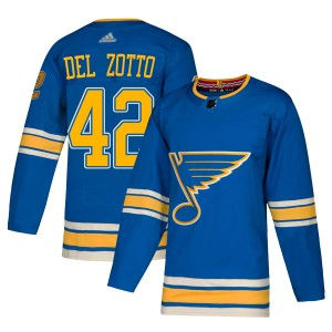 Michael Del Zotto St. Louis Blues Youth Adidas Authentic Blue Alternate Jersey