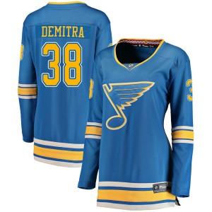 Pavol Demitra St. Louis Blues Women's Fanatics Branded Blue Breakaway Alternate Jersey