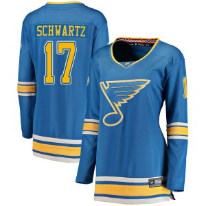 Jaden Schwartz St. Louis Blues Women's Fanatics Branded Blue Breakaway Alternate Jersey