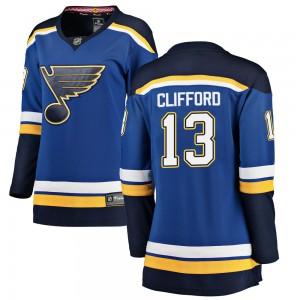 Kyle Clifford St. Louis Blues Women's Fanatics Branded Blue Breakaway Home Jersey