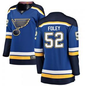 Erik Foley St. Louis Blues Women's Fanatics Branded Blue Breakaway Home Jersey