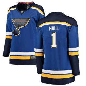 Glenn Hall St. Louis Blues Women's Fanatics Branded Blue Breakaway Home Jersey