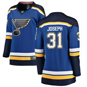 Curtis Joseph St. Louis Blues Women's Fanatics Branded Blue Breakaway Home Jersey