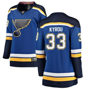 Jordan Kyrou St. Louis Blues Women's Fanatics Branded Blue Breakaway Home Jersey