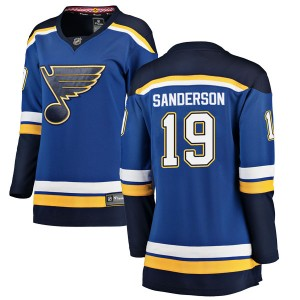 Derek Sanderson St. Louis Blues Women's Fanatics Branded Blue Breakaway Home Jersey