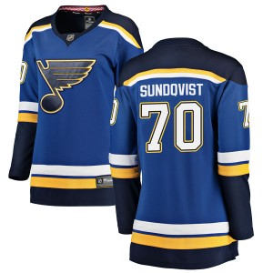 Oskar Sundqvist St. Louis Blues Women's Fanatics Branded Blue Breakaway Home Jersey