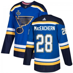 MacKenzie MacEachern St. Louis Blues Men's Adidas Authentic Blue Mackenzie MacEachern Home 2019 Stanley Cup Final Bound Jersey