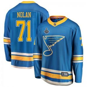Jordan Nolan St. Louis Blues Men's Fanatics Branded Blue Breakaway Alternate 2019 Stanley Cup Final Bound Jersey