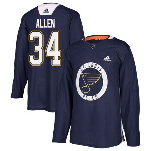 Jake Allen St. Louis Blues Men's Adidas Authentic Blue Practice Jersey