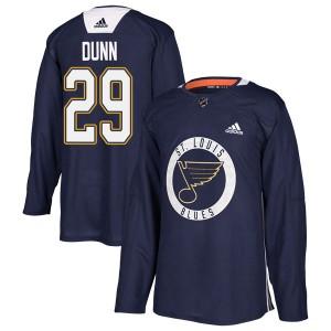 Vince Dunn St. Louis Blues Men's Adidas Authentic Blue Practice Jersey