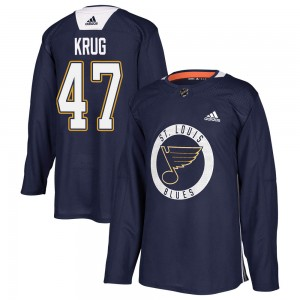 Torey Krug St. Louis Blues Men's Adidas Authentic Blue Practice Jersey
